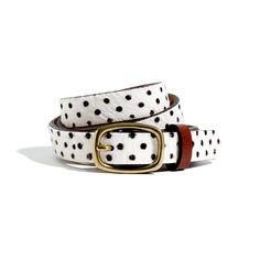 Madewell  Calf Hair Polka-Dot Belt