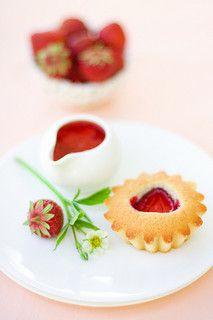 Madeleine à la fraise