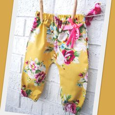 Baby Girl Floral Bohemian Harem Pants by BubbyMakesThree on Etsy, $28.00