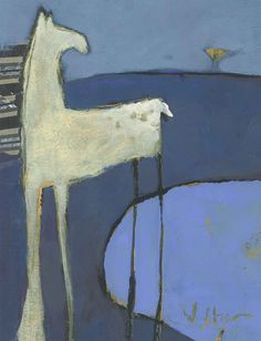 Horse+&+Bird+Original+Painting+by+ShelliWalters+on+Etsy