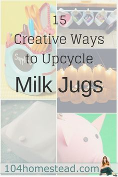 Upcycling and repurposing milk jugs. Not only will you stop throwing away your daily/weekly milk jug, you'll probably start having friends and family save them for you.