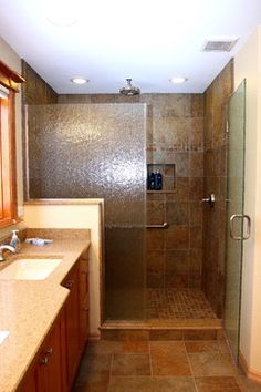 Stand Up Shower Ideas closet under the stairs turned stand up shower with ceramic tile