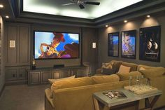 Basement Tv Rooms, Basement Movie Room, Movie Theater Rooms, Basement Ideas, Movie Rooms, Theater Room Decor, Basement Apartment, Basement Designs, Basement Remodeling