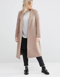 Alice & You Longline Coat With Drop Lapel