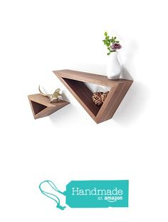 $83 plus $12 shipping. Set of Two: Triangular Floating Black Walnut Shelves from Fernweh Woodworking
