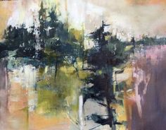 """Daily Painters Abstract Gallery: Mixed Media Abstract Landscape Painting """"In The Wild"""" by Intuitive Artist Joan Fullerton"""