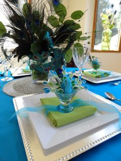 Peacock Luncheon - Party Planning - Party Ideas - Cute Food - Holiday Ideas -Tablescapes - Special Occasions And Events - Party Pinching