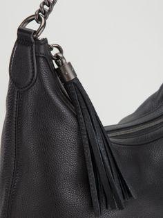 GUCCI - Black Soho hobo tote bags  #gucci #guccibags #guccishoulderbags #bags #totes #shoulderbags #womenbags #black #chainbags