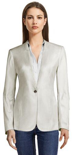 Get Katarzynas look here¨! Blazers For Women, Jackets For Women, Casual Blazer, Linen Blazer, Design Your Own, Corduroy, Perfect Fit, Light Blue, Beige