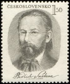 Bedřich Smetana (1824-1884), composer Music Composers, Opera Singers, Vintage Stamps, Art Graphique, Stamp Collecting, My Stamp, Classical Music, Literature, Folk