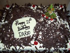 A French - Irish Black Forest! Happy Birthday again Dario!!!