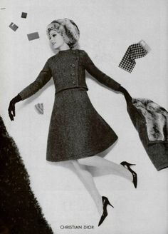 1961 Christian Dior. Pagan wouldn't care for the hat, but the suit? Yum.