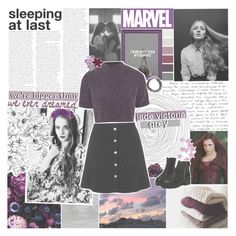 """""""and i'm in love with being queen."""" by queenrowan ❤ liked on Polyvore featuring DK, Topshop, Oh My Love and marvelacademyround1"""