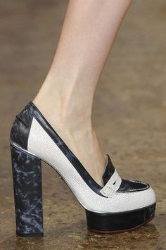 Charlotte Olympia for Peter Som Resort 2012 Platform Penny Loafers Profile Photo