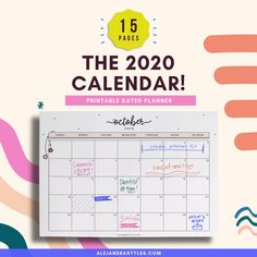 2020 Calendar Printable Planner for Desk or Wall Monday and | Etsy