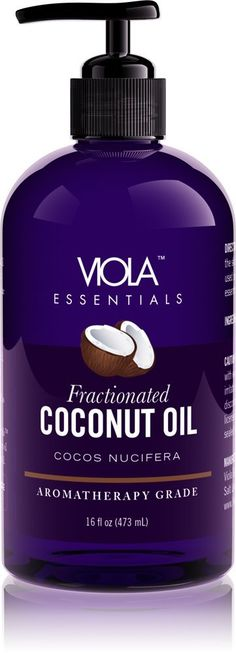 Pure Fractionated Coconut Oil, 16 Oz - Pump Squeeze Cap - Great Coconut Oil for Skin and Hair - Perfect Carrier Oil For Essential Oils, Massage and Aromatherapy - Great for Roll-On Bottles >>> Check out this great image : pure essential oils Now Essential Oils, Therapeutic Grade Essential Oils, Roll On Bottles, Coconut Oil For Skin, Fractionated Coconut Oil, Carrier Oils, Aromatherapy, Feel Good, Pump