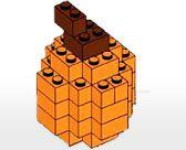 lego pumpkin, Frankenstein and Bride of, Maple leaf