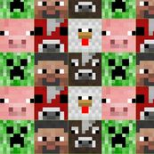 minecraft-creeper inspired fabric by taylahrose on Spoonflower ...