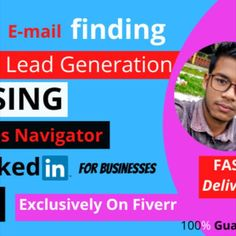Hello! Welcome to my b2b lead generation Gig. Do you need help with B2B lead generation? If you are increase your sales and lead generation. I can help.  I am doing targeted b2b lead generation in fiverr with high success and experience. i collect leads form target and from verified resources such as linkedin and directories.  I  will do research and gather data from almost any industry and location, and will refine them based on your given criteria. Web Research, Market Research, Seo Professional, Advertise Your Business, Lead Generation, People Around The World, Video Editing, I Can, Digital Marketing