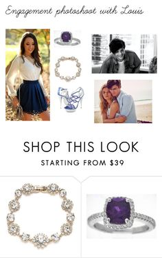 """""""Engagement photoshoot with Louis"""" by mrsstomlinson991 ❤ liked on Polyvore featuring Marchesa and Abercrombie & Fitch"""