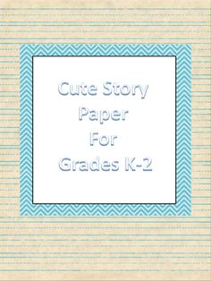 Cute Story Paper from SensibleSubstitute on TeachersNotebook.com -  - This is all occasion story paper great for a writing center or daily five. A special thanks to Kristen Wellden at Creative Clips for the images.