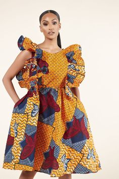 Latest African Fashion Dresses, African Dresses For Women, African Attire, African Print Clothing, African Print Fashion, African Clothes, Short Ankara Dresses, Prom Dresses, Ankara Styles For Women