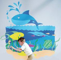 Paint by Number Sea Mural  Kids Murals  Ocean by MoppetMurals