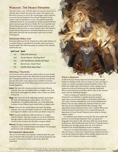 Dungeons And Dragons Classes, Dungeons And Dragons Homebrew, Warlock Class, Dnd Dragons, Dnd Classes, The Warlocks, Dnd 5e Homebrew, Nerd Herd, Custom Tags