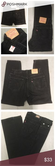 VINTAGE Levi's High waisted Jeans Levi's Highwaisted Mom jeans Blk (Levi's 550 relaxed fit w34 L32 rise10.5) Levi's Jeans