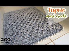 Tapete de crochê para banheiro simples | MAXI CROCHÊ - JNY Crochê - YouTube