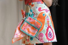 by Handmade Charlotte  Charming Kitchen Cafe Apron Set Meet Laura Bendash author, pattern maker, and shop owner. Sewing Hacks, Sewing Tutorials, Sewing Crafts, Sewing Projects, Sewing Patterns, Sewing Ideas, Serger Projects, Sewing Tips, Sewing For Kids