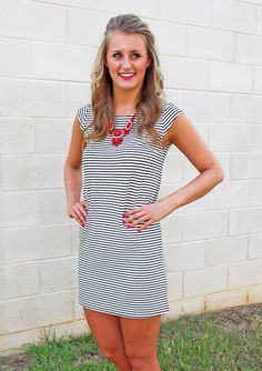 Daring Stripes Dress - Southern Flair Boutique