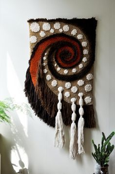 Fiber Art Wallhanging by DancersRoad on Etsy Weaving Textiles, Weaving Art, Weaving Patterns, Tapestry Weaving, Loom Weaving, Hand Weaving, Weaving Projects, Woven Wall Hanging, Weaving Techniques