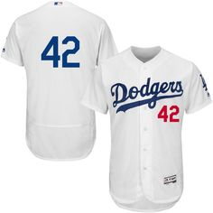 Men's Los Angeles Dodgers Jackie Robinson Majestic Home White Authentic Collection Flex Base Jersey | MLBShop.com