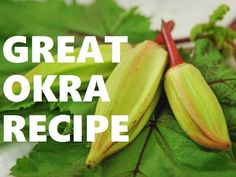 GREAT Okra Recipe -Okra Pancakes, w/Chef Scott Peacock #KnowYourFarmer