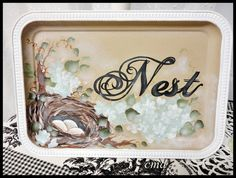 Nest in the Hydrangeas Hand Painted by CelestinaMarieDesign, $24.50