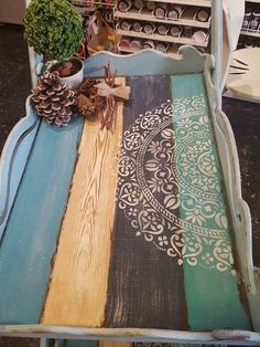 Chalk Paint Projects, Diy Pallet Projects, Wood Projects, Creation Deco, Decoupage Box, Recycled Furniture, Diy Crafts To Sell, Painting On Wood, Wood Art