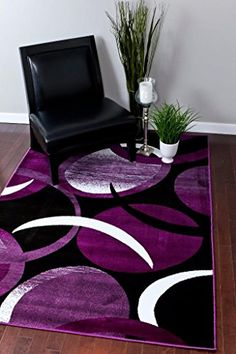 1062 Purple White 5 2x7 2 Area Rug Abstract Carpet Persian Rugs Http
