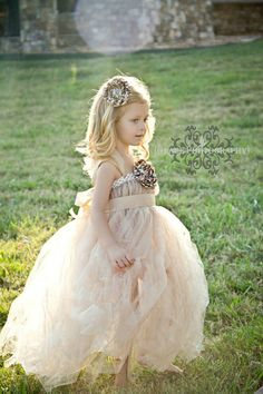 Love this flower girl dress and the light