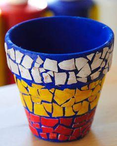 תוצאת תמונה עבור pots in mosaic