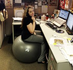 Stability Ball Desk Chair Size
