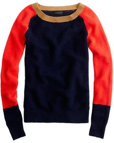 J.Crew Collection Cashmere Waffle Colorblock Sweater - Lyst