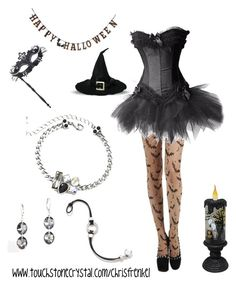 """Happy Halloween"" by christen-olnhausen-frenkel on Polyvore featuring Creative Co-op, Touchstone Crystal and Masquerade"