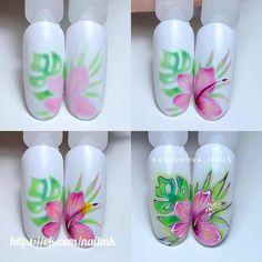 Маникюр пошагово Bling Nails, Diy Nails, Emoji Nails, Tulip Nails, Flower Nail Art, Iris Flowers, 3d Nail Art, Crystal Flower, Finger