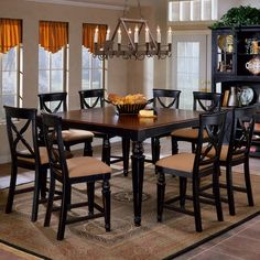 Northern Heights Counter Height Dining Table w/ Leaf, Stools