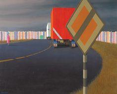 Jeffrey Smart, Radial Road (1972)