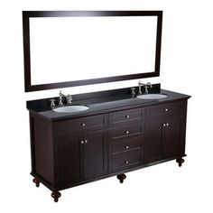 Bosconi - 73'' Bosconi SB-261 Vanity Set - Couples consoling. This extra wide bath console allows each of you to have your own personal spac...