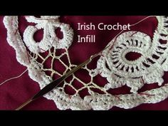 Урок вязания крючком. ПЫШНЫЙ РАЧИЙ ШАГ. Завиток ирландское кружево. Irish lace. - YouTube