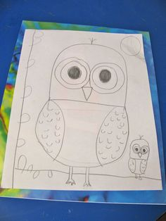 cute owl for artlessonsforkids.me  (include discussion of 5 elements of shape)