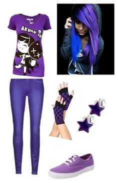 """Purple"" by secretshadow ❤ liked on Polyvore featuring 7 For All Mankind and Keds"